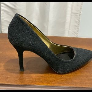 Nine West black glittered heels size 7.5